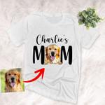 Furry Mom Custom Pet Portrait Unisex T-shirt Mother's Day Gift, Gift for Girls On Birthday