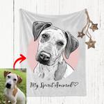 Custom Pet Portrait Blanket Gift For Dog Moms, Dog Dads, Pet Lovers