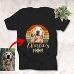 Retro Sunset Pet Mom Dog Lovers Unisex T-shirt, Funny Gift For Mom, Dog Owners
