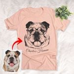 Personalized Pet With Glasses Unisex T-shirt Special Gift For Dog Lovers, Dog Moms, Dog Dad
