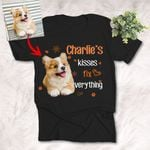 Kisses Fix Everything Dog Lovers Personalized Unisex T-shirt, Funny Gift For Mom, Dog Owners