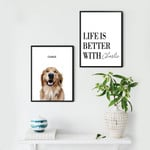 Combo Custom Quote & Image All Guests Must Be Approved By The Dog Poster