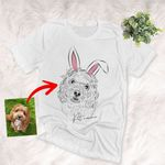 Personalized Easter Dog Portrait T-shirt Adults For Dog Lovers, Dog Parents