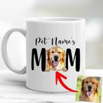 Furry Mom Custom Pet Portrait Mug Mother's Day Gift, Gift for Girls On Birthday