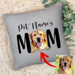 Furry Mom Custom Pet Portrait Pillow Case Mother's Day Gift, Gift for Girls On Birthday