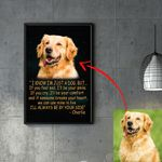 Meaningful Message Pet Portrait Custom Image Personalized Poster Gift For Pet Owners