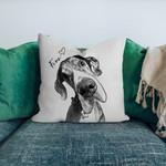 Personalized Pet Photo Portrait Sketch Pillow Case