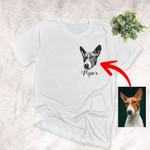 Digital Design Dog Portrait Unisex T-shirt Gift For Dog Moms, Dog Dads, Birthday's Gift For Dog Owners