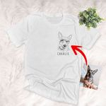 Pencil Design Custom Unisex Left Chest T-shirt, Funny Gift For Dog Lovers, Dog Owners