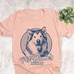 Personalized Alaskan Malamute Dog Shirts For Human Bella Canvas Unisex T-shirt For Dog Mom, Dog Dad