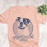 Personalized American Bulldog Dog Shirts For Human Bella Canvas Unisex T-shirt For Dog Mom, Dog Dad