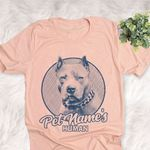 Personalized American Bully Dog Shirts For Human Bella Canvas Unisex T-shirt For Dog Mom, Dog Dad