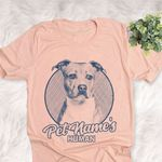 Personalized American Staffordshire Terrier Dog Shirts For Human Bella Canvas Unisex T-shirt