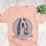 Personalized Basset Hound Dog Shirts For Human Bella Canvas Unisex T-shirt