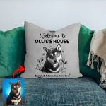 Welcome To Dog's House Customized Pillow Case