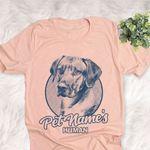 Personalized Rhodesian Ridgeback Dog Shirts For Human Bella Canvas Unisex T-shirt