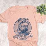 Personalized Shar Pei Dog Shirts For Human Bella Canvas Unisex T-shirt