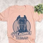 Personalized Cane Corso Dog Shirts For Human Bella Canvas Unisex T-shirt