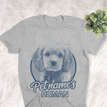 Personalized Cockalier Dog Shirts For Human Bella Canvas Unisex T-shirt
