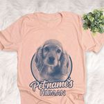 Personalized Cocker Spaniel Dog Shirts For Human Bella Canvas Unisex T-shirt