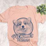 Personalized Corgi Dog Shirts For Human Bella Canvas Unisex T-shirt