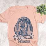 Personalized Dachshund Dog Shirts For Human Bella Canvas Unisex T-shirt