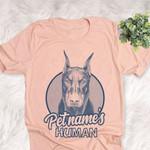 Personalized Doberman Pinscher Dog Shirts For Human Bella Canvas Unisex T-shirt
