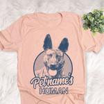 Personalized Dutch Shepherd Dog Shirts For Human Bella Canvas Unisex T-shirt