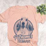 Personalized English Cocker Spaniel Dog Shirts For Human Bella Canvas Unisex T-shirt
