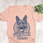 Personalized German Shepherd Dog Shirts For Human Bella Canvas Unisex T-shirt