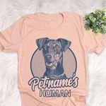 Personalized German Pinscher Dog Shirts For Human Bella Canvas Unisex T-shirt