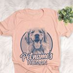 Personalized Golden Retriever Dog Shirts For Human Bella Canvas Unisex T-shirt