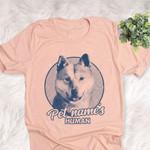 Personalized Korean Jindo Dog Shirts For Human Bella Canvas Unisex T-shirt