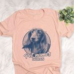 Personalized Long Haired Dachshund Dog Shirts For Human Bella Canvas Unisex T-shirt