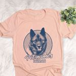 Personalized Norwegian Elkhound Dog Shirts For Human Bella Canvas Unisex T-shirt