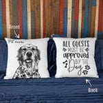 Personalized Life Is Better With Dogs Photo Portrait Sketch Pillow Case