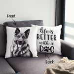 Personalized Life Is Better With Dogs Photo Pillow Case