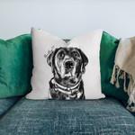 Personalized Dog Photo Portrait Sketch Home Decor Pillow Case