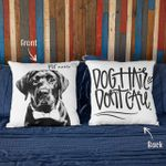 Personalized Dog Hair Don't Care Custom Photo Pillow Case