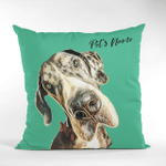 Personalized Pet Colorful Painting Customized Photo Pillow Case