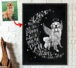 I Love You To The Moon And Back Pet Portrait Custom Image Personalized Poster Gift For Pet Owners
