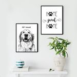 Home Sweet Home Pet Portrait Custom Image Personalized Poster Gift For Pet Owners