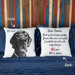 Thank You Letter From Dog To Father Custom Dog Photo Pillow Case