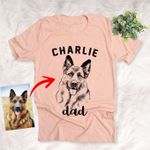 Pet Dad Pet Mom Dog Lovers Customized Unisex T-shirt, Funny Gift For Moms, Dog Owners, Dog Dads