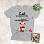 Thanks For Loving Me Funny Personalized T-shirt Mother's Day Gift, Father Day Gift For Dog Moms, Dog Mama