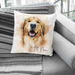 Personalized Dog Portrait Water Color Pillow Case For Pet Lover, Pet Parents