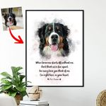 Personalized Pet Memorial Portrait Custom Image Poster Gift For Pet Owners Dog Lovers