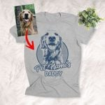 Personalized Dog Dad Shirt With Dog Faces Gifts For Dog Dad In Father's Day