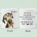 Happy Father's Day Color Painting Pet Portrait Personalized Mug