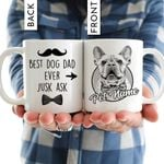 Best Dog Dad Ever Personalized Mug Father's Day Gift, Gift for Dog Dad, Dog Papa